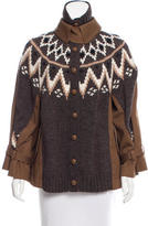 Sacai Flared Wool Jacket