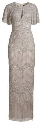 Aidan Mattox Fully Beaded Evening Gown