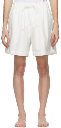 Tekla White Flannel Pyjama Shorts