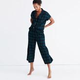 Madewell Flannel Bedtime Pajama Pants in Dark Plaid