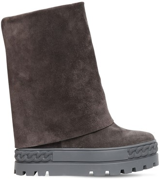 Casadei 80mm Double Face Suede Ankle Boots