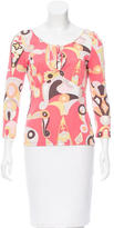 Emilio Pucci Printed Thee-Quarter Sleeve Top