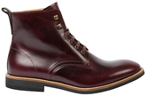 Paul Smith Hamilton Lace Up Leather Boots, Burgundy