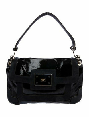 Anya Hindmarch Navy Patent Leather shoulder bag Navy