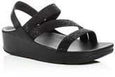 FitFlop Crystall Z-Strap Embellished Platform Slingback Sandals