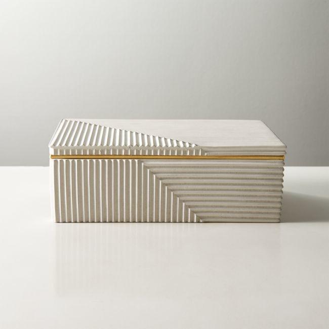 Cb2 Chelsea White Concrete Box