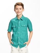 Old Navy Linen-Blend Double-Pocket Shirt for Boys