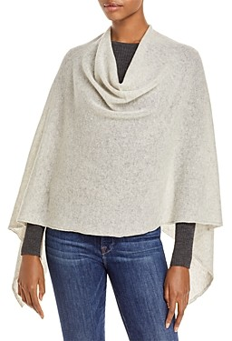 Fraas Solid Asymmetrical Cashmere Poncho - 100% Exclusive