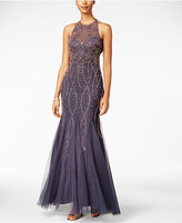 Xscape Evenings Beaded Open-Back Mermaid Gown