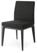 Calligaris Bess Low Upholstered Dining Chair Color: Smoke, Upholstery Color: Optic White