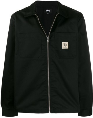 Stussy zip-up work jacket