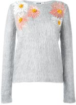 MSGM sequin flowers jumper