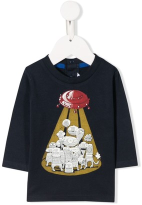 Little Marc Jacobs printed aliens T-shirt