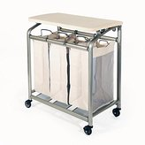Seville Classics 3-Bag Folding Laundry Sorter