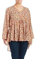 Melissa McCarthy Plus Tiered Blouse