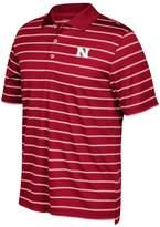 adidas Men's Nebraska Cornhuskers Striped Golf Polo