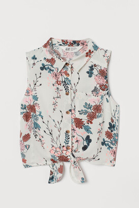 H&M Tie-hem blouse