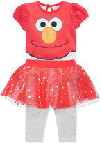 Nannette 2-Pc. Elmo Bodysuit & Skirted Leggings Set, Baby Girls (0-24 months)