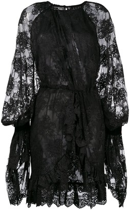 Christian Pellizzari Asymmetric Lace Dress