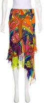 John Galliano Silk Midi Skirt w/ Tags