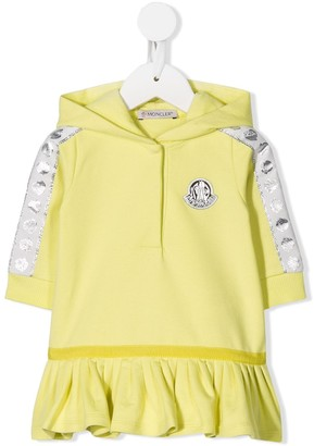 Moncler Enfant Logo Stripe Sweater Dress