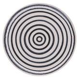 IKE striped side plate D22cm