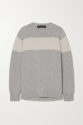 The Elder Statesman Racing Striped Cashmere Sweater - Gray