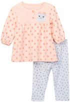 Rene Rofe Kitty Dress & Legging 2-Piece Set (Baby Girls)