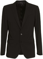 Dolce & Gabbana Black Stretch Wool Martini Suit