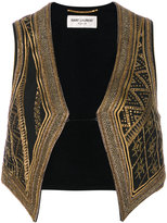 Saint Laurent embroidered waistcoat
