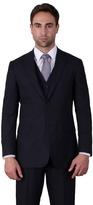 Karl Jackson Navy Plain Weave Regular Fit 2 Button Jacket