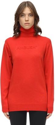 Ambush Embossed Wool Blend Knit Sweater