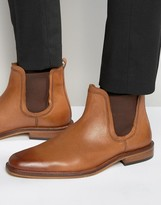 Dune Chelsea Boots Tan Leather