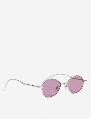 Gentle Monster Cobalt tinted stainless steel sunglasses