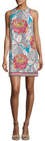 Trina Turk Macee Sleeveless Floral Jersey Shift Dress, Multicolor