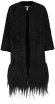 Amanda Wakeley Ida Black Fur Coat