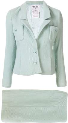 Chanel Pre Owned slim-fit skirt suit