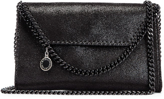 Stella McCartney Mini Falabella Shaggy Deer Crossbody Bag in Black | FWRD