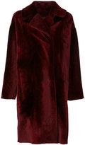 Drome double breasted fur coat - women - Viscose/Lamb Fur/PBT Elite - S
