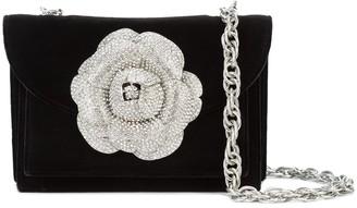 Oscar de la Renta Gardenia embellished cross body bag