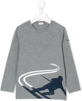 Il Gufo ski print sweatshirt - kids - Cotton/Spandex/Elastane - 8 yrs
