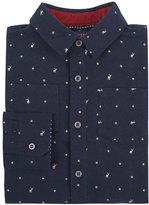 Andy & Evan Childrenswear Long-Sleeve Deer-Print Flannel Shirt, Navy, Size 2-7