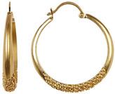 Vince Camuto Chain Textured Hoop Earrings