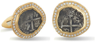Jorge Adeler Men's Ancient Coin 18k Gold Cufflinks w/ Pavé Diamonds