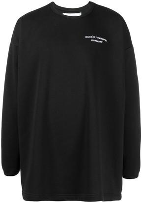 Societe Anonyme Logo-Print Oversized Sweatshirt