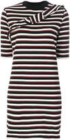 MAISON KITSUNÉ striped fitted dress