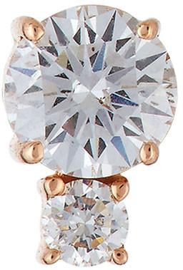 Jemma Wynne Prive Double-Diamond Post Earring in 18K Rose Gold