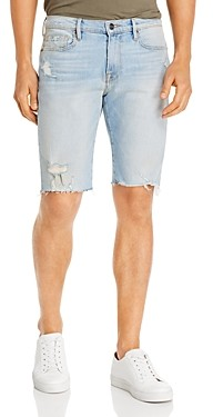 Frame L'Homme Slim Fit Cut-Off Shorts in Tidal