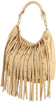 Forever 21 Studded Fringe Hobo Bag