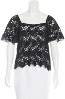 Alexis Crochet Short Sleeve Top